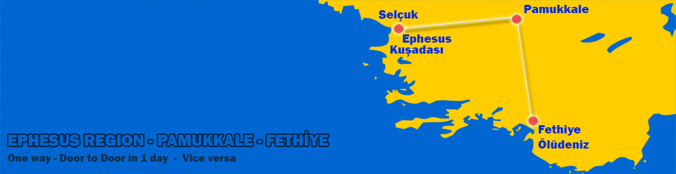 Fethiye to Pamukkale-Ephesus in 1 day